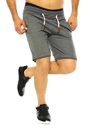 Raff & Taff Sport Joggen Training Shorts Fitness Kurze Hose Jogging Hose Camouflage Shorts Bermuda Tarnhose (M, Anthrasit(2896))