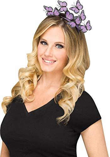 Butterfly Headband Adult Costume Accessory Purple