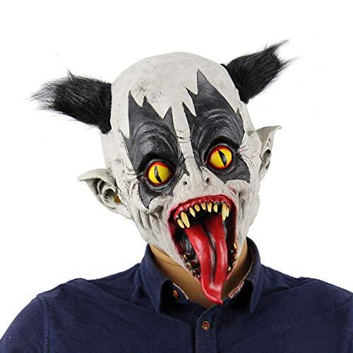 N/F Máscara de Terror de Halloween Máscara de Fiesta de mueca de látex Máscara de Payaso de Disfraces Fiesta de Cosplay