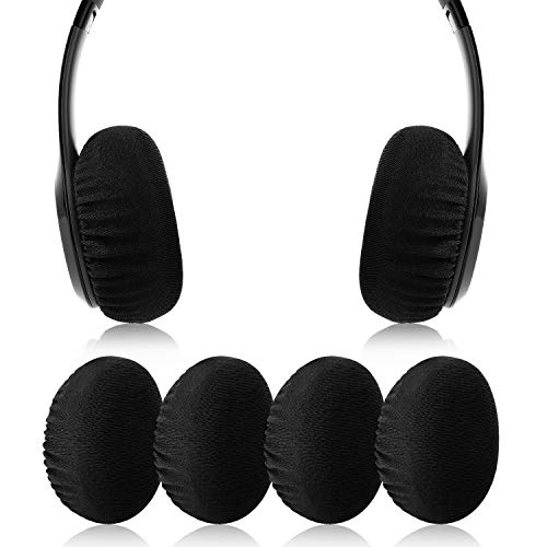 JECOBB Flex Fabric Earpad Cover Protectors with Stretchable and Washable Lycra for Beats Solo 3/2 Wireless/Wired and Other Headphones with 1.57-3.14 Inch Ear Cushions [ 2 Pairs ] (Black)