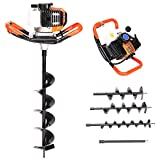 52cc Petrol Earth Auger Drill Post Hole Digger Borer Tools Ground Drill Garden Outdoors Fence with...