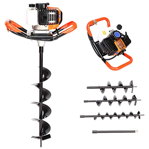 52cc Petrol Earth Auger Drill Post Hole Digger Borer Tools Ground Drill...