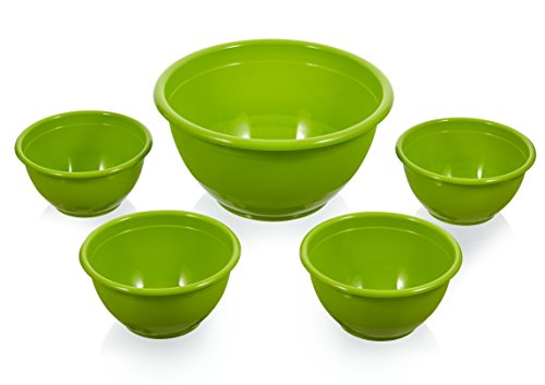 Arrow Home Products, 5-Piece, Assorted Serving Bowl Set Colors