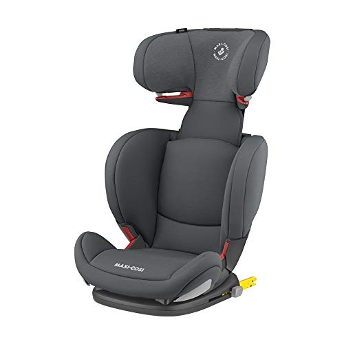 Maxi Cosi RodiFix AirProtect (AP) Kindersitz Gruppe 2/3, ISOFIX-Sitzerhöhung, optimaler Seitenaufprallschutz, 3,5 - 12 Jahre, 15 - 36 kg, (grau) Authentic Graphite