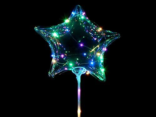 Alsino Luchtballonnen Party Helium ballonnen met LED-licht incl. batterijen en lichtketting Ledballon bal 011 ster