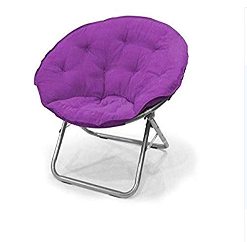 Urban Shop , Iris Contemporary Plush Microsuede Saucer Chair, Solid