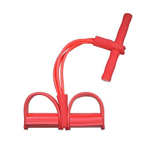 Widerstandsband Stretchband Fitnessgeräte Multifunktionale 4 Röhren Latex Fuß Elastic Pull Rope Expander Muskel Fitness Training Pedal Sportausrüstung Widerstandsbänder Rot