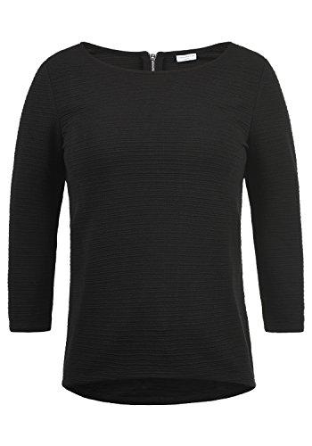 ONLY Gretel Damen Sweatshirt Pullover Sweater Mit Rundhalsausschnitt, Größe:S, Farbe:Black