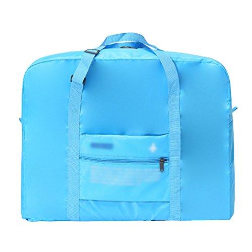 Dexinx Leichtgewicht Handtaschenhalter Reisetasche Handgepäck Aufbewahrungsbeutel Gepäck Organizer Kleidertasche Tragbar Reise-Henkeltasche (Blau, 43 * 19 * 35cm)