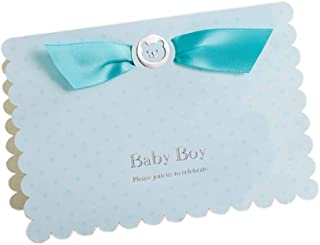 Baby Shower Invitations Boy with Envelopes 12 Pack Blue Writable Invite Cards