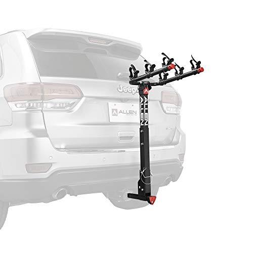 Allen Sports Deluxe Locking Quick Release 3-Bike Carrier for 2 in. & 1 4 in. Hitch, Model 532QR, Black