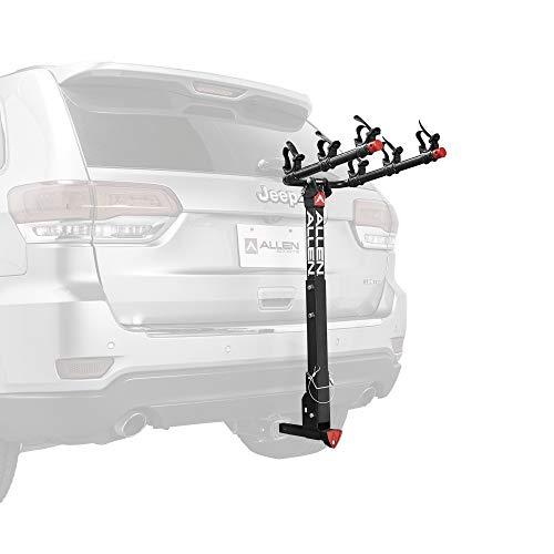 Allen Sports Unisex's 532QR Deluxe Locking Quick Release 3-Bike Carrier for 2 in. and 1 1/4 in. hitch, Black