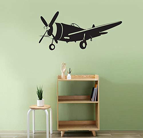 Yaonuli Afneembare vliegtuig-muurstickers vliegtuig vintage hemel muursticker Home Decoration sticker woonkamer muurschildering