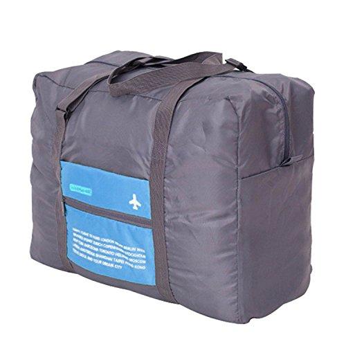 Capacità Grande Impermeabile Pieghevole Portatile di Viaggio Borsa da Viaggio Trolley Borsa Bagagli Vestiti Deposito Bagaglio a Mano Blu