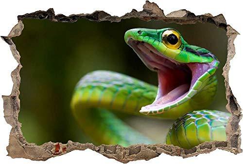 Wandtattoos Wandaufkleber Snake Smashing Wall Decal Grafik Aufkleber Kunst Wandbild Tier