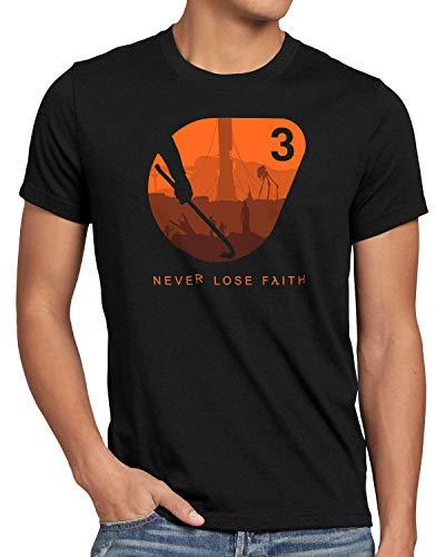 A.N.T. Never Loose Faith Camiseta para Hombre T-Shirt Black Mesa Lambda, Talla:XL
