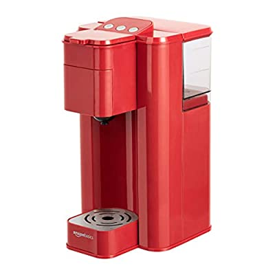 AmazonBasics Single Serve Capsule Coffee Maker, Red (Renewed)