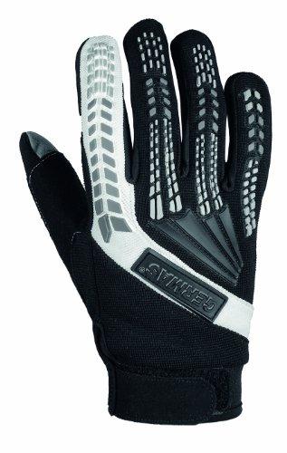 Preisvergleich Produktbild GERMAS 412.09-10-L Motorrad Handschuh JAMIE,  Schwarz / Wei