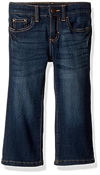 Wrangler Baby Boys  Five Pocket Boot Cut Jean Dark Blue 4T