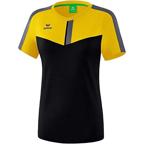 Erima Damen Squad Funktions T-Shirt, gelb/schwarz/Slate Grey, 40