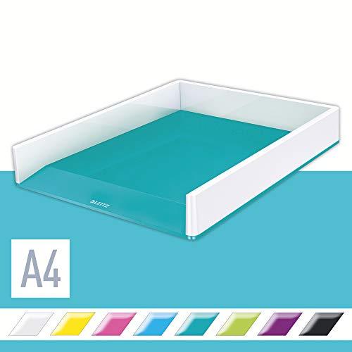 Leitz WOW Vaschetta portacorrispondenza Dual Color, Acquamarina