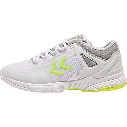 Hummel Aerocharge Hb200 Speed 3.0, Zapatillas de Balonmano Unisex Adulto, Blanco (White 9001), 44.5 EU