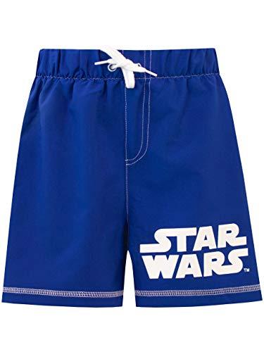 Star Wars Costume da Bagno per Ragazzi a Due Pezzi Blu 7-8 Anni