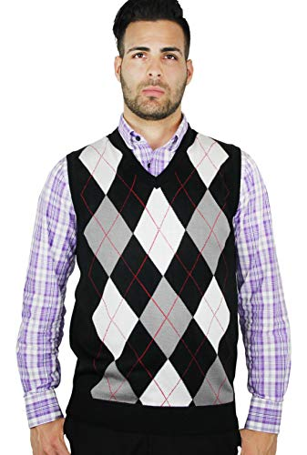 Blue Ocean Argyle Sweater Vest-3X-Large