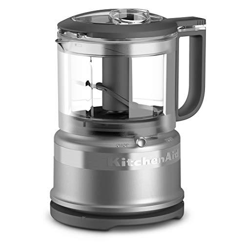 KitchenAid KFC3516CU 3.5 Cup Mini Food Processor, Contour Silver (Renewed)
