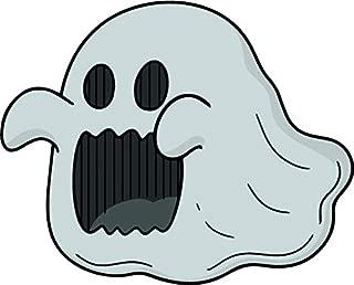 Simple Creepy Classic Halloween Sheet Ghost Cartoon Emoji Vinyl Sticker (2