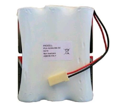'Batterie Alarmanlage kompatibel silentron BAT1010Packung Batterien 9V 12Ah Power Pack (Montage 6torcioni