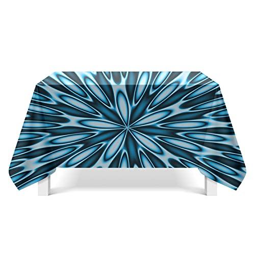 CYYyang Tela de Tabla Antideslizante del algodón del Poliester Cubierta Simple de la Tabla de la Manera Arte de Textura Espiral