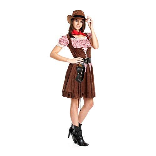Kostümplanet® Cowboy Kostüm Damen Cowgirl Größe 44/46
