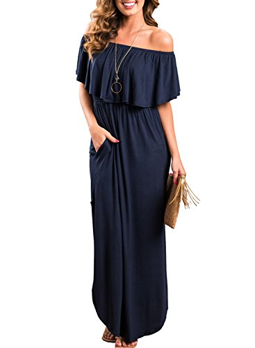 Off The Shoulder Long Casual Dress