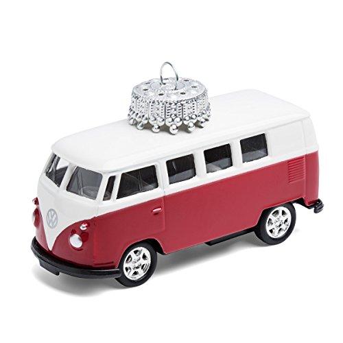 corpus delicti :: Christbaumschmuck aus Metall – die rollende Alternative zur Weihnachtskugel – VW Bus T1 Bulli (rot)