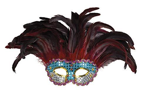 Boland 00261 Augenmaske Phoenix Queen, Weinrot