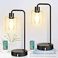 Set of 2 Fujiway 3 Way Dimmable End Table Lamps