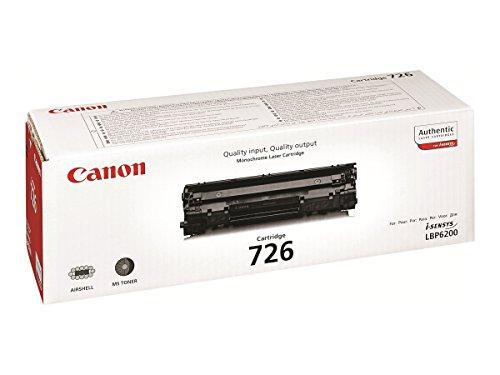 Canon cartucho 726 de tóner original negro para impresoras láser i-SENSYS LBP6200d, LBP6230dw