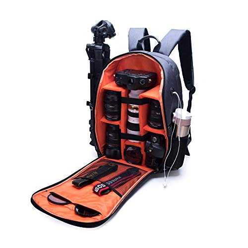 Luqifei Camera Case Bag Camera Lens treppiede Tablet Pad Panno Impermeabile Antiurto antifurto Bagagli Carry Bag Zaino Traval Comfort on The Go (Color : Black, Size : One Size)