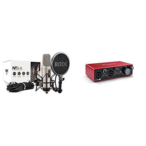 Rode microphones Studio PackKit de Sonido para Estudio + Focusrite Scarlett 2i2 3rd GenInterfaz de Audio USB