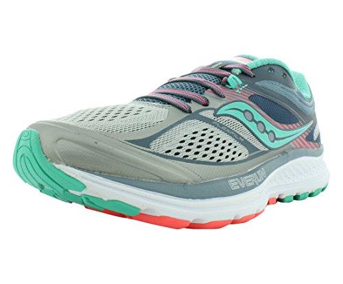 Saucony Women's Guide 10 Running Shoe, Grey Teal, 7.5 Medium US