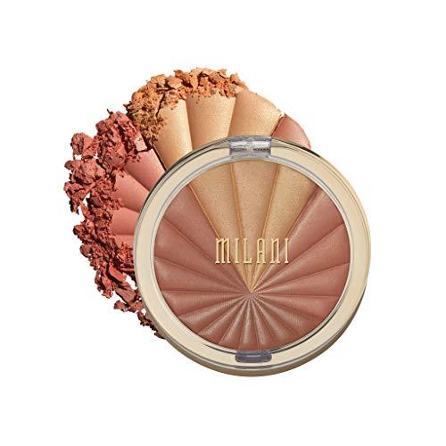 Milani Color Harmony Blush Palette - Bronze Burst (0.3 Ounce) Vegan, Cruelty-Free Powder Blush Compact - Shape, Contour & Highlight Face with 4 Matte Shades