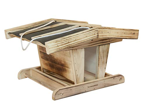 Windhager Vogelfuttersilo Chalet, Vogelhaus, Futterhaus, Vogelhäuschen, Vogelfutterstation zum Aufhängen, Vogel-Silo, 06910, Holz