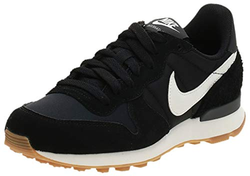 Nike Damen WMNS Internationalist 828407-021 Laufschuhe, Schwarz Black Summit White Anthracite Sail 021, 37.5 EU