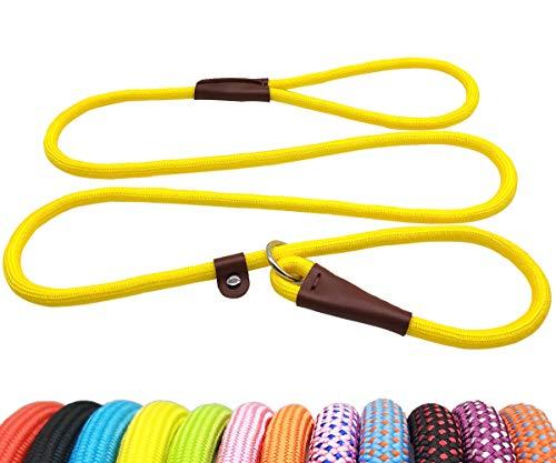 BTINESFUL 5FT Durable Slip Lead Rope Dog Leash, No Pull Nylon Training Leash for Medium Large Dogs, 1/2