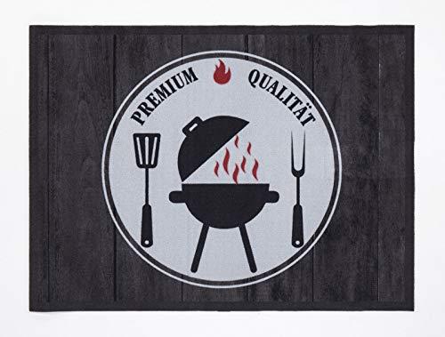 andiamo Grillmatte BBQ, robust, mehrer Grilldesigns & Größen Rechteck & Rund, Größe:90 x 120 cm, Farbe:Premium Qualität