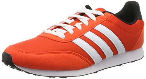 adidas V Racer 2.0, Zapatillas de Running Hombre, Naranja (Active Orange/FTWR White/Core Black Active Orange/FTWR White/Core Black), 36 EU