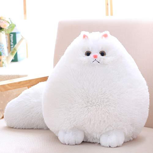 Winsterch Kids Cat Stuffed Animal Toys Gift Plush Cat Animal Baby Doll, Fat White Plush Cat,12 Inches