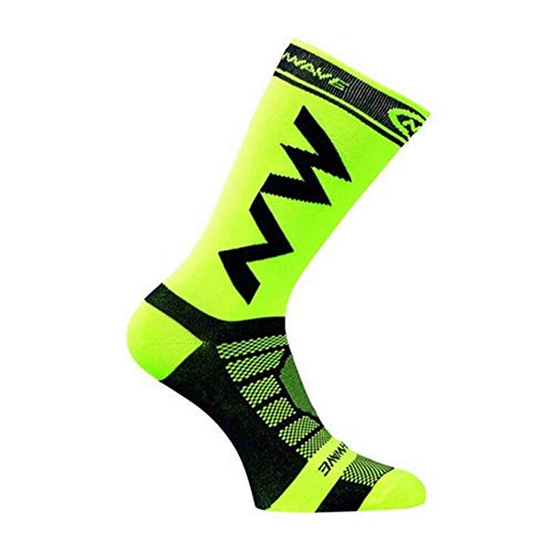Sportsocken Lang Leichte Laufsocken Running Socks Atmungsaktive Kompressionssocken für Männer Und Frauen, Workout Wandern Spazierengehen Nylonsocken Sportliche, 4 Farben