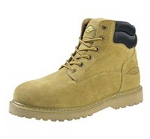 Diamondback 1-8 Hiker Work Boot, 8 in, Unisex, Beige, Suede Leather